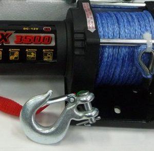 Лебедка для квадроцикла электрическая с синтетическим тросом master winch Х3500S