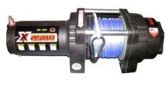 Лебедка для квадроцикла электрическая с синтетическим тросом master winch X2500s