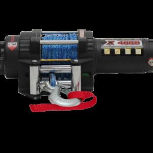 Лебедка для квадроцикла электрическая с синтетическим тросом master winch X4000S